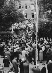 Crowd Near Our Lady of Beauraing Shrine, 1958