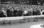 Crowds During Mass at Beauraing Shrine, 1958