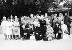 Pilgrims with Bishop Collignon, 1966