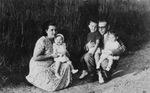 Albert Voisin with Wife and Children in the Belgian Congo, 1957