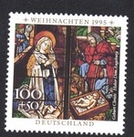 Nativity: Stained glass windows, Augsburg Cathedral