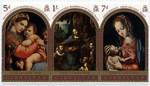 5d: Madonna della Seggiola, 1sh: Virgin of the Rocks, 7d: Madonna and child