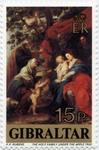 Holy Family under  Apple Tree