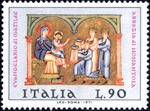 From Miniatures in Evangelistary of Matilde – 12th-13th centuries