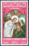Woman wipes Jesus'brow
