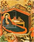Nativity with Prophets Isiah and Ezekiel