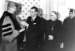 Fr. Roesch Presents Marianist Award to President Frei-Montalvo of Chile, 1967