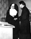 Sister Mary Pierre, Recipient of the Marian Library Medal, 1961