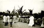 Fr. Del Zoto and Children at the Shrine of Our Lady of Fatima in Mattul, circa 1950