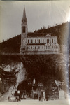 The grotto and Basilica at Lourdes, circa 1910