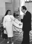 Dr. Sheehan and Marguerite Malgogne, circa 1947