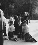 Praying at Lourdes, circa 1950