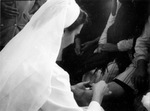 A Servite Sister with Patient at Fatima, circa 1960