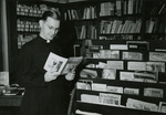 Rev. Dickson in the Marian Library, circa 1964
