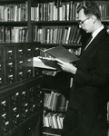 Bro. Bill Fackovec in the Marian Library, circa 1965