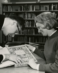 Bro. Bill Fackovec and Patron in the Marian Library, January 1965