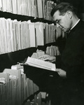 Fr. Hoelle in the Marian Library, circa 1960