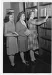 Patrons in the Marian Library, circa 1960