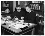 Fr. Mulligan and Fr. Cole, editors of the Marianist magazine, circa 1960