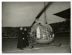Fatima Statue Boards Helicopter