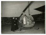 Fatima Statue Boards Helicopter