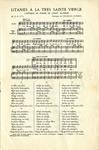 Litanies a la Très Sainte Vierge: Cantique en Forme de Chant Alterné