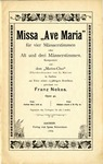 Missa Ave Maria by Franz Nekes