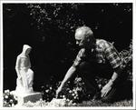 John Stokes in Mary's Gardens, 1982