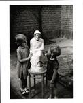 Children with St. Joseph Statue, circa 1982