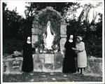 Bonnie Roberson with Nuns at Marian Shrine, circa 1965