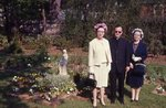 Fr. Casey and sisters in Mary's Garden, 1965