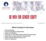 UD Men for Gender Equity Newsletter, September 2020