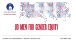 UD Men for Gender Equity Newsletter, October 2020