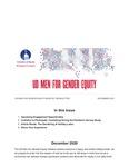 UD Men for Gender Equity Newsletter, December 2020