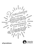 Coloring Page: Knowledge is Gained through an Open Mind and and Open Heart