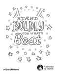 Coloring Page: Stand Boldly for What's Best