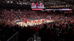 Background Image: Spirit Flags at Men's Basketball Game by University of Dayton
