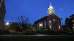 Background Image: Immaculate Conception Chapel at Dusk by University of Dayton