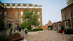 Background Image: St. Joseph Hall Courtyard by University of Dayton