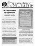 The Marian Library Newsletter Winter 2011-12
