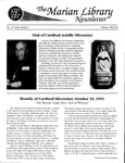 The Marian Library Newsletter Winter 1993-94