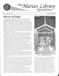 Marian Library Newsletter Winter 2000-01 by University of Dayton. The Marian Library
