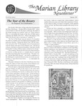 The Marian Library Newsletter Summer 2003