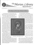 The Marian Library Newsletter: Issue Nos. 49-50 by University of Dayton. Marian Library.