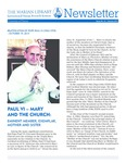 The Marian Library Newsletter Autumn 2014