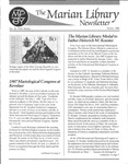 The Marian Library Newsletter Winter 1988