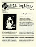 The Marian Library Newsletter Winter 1989