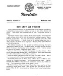 The Marian Library Newsletter March-April 1955