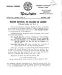 The Marian Library Newsletter April-May 1958