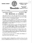 The Marian Library Newsletter June 1958
